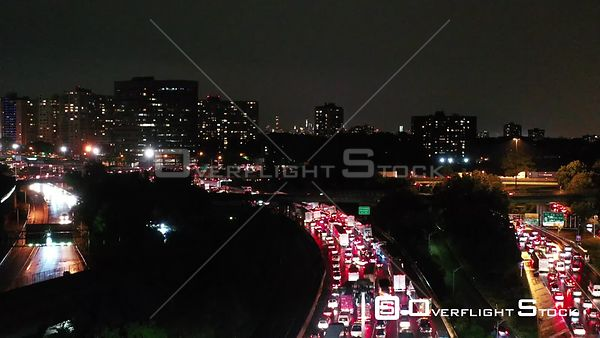 Drone Video of Traffic Congestion on the GWB New York