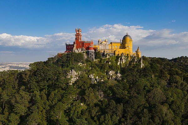 Aerial View of the Pena Palace
