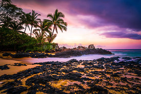 Paako Cove Secret Beach Maui Hawaii Sunrise Photo