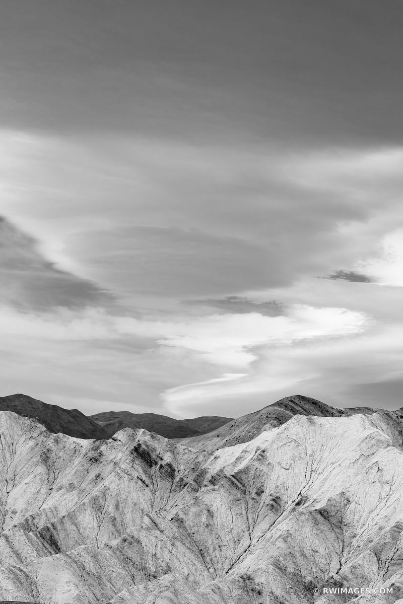 GOLDEN CANYON TRAIL DEATH VALLEY CALIFORNIA VERTICAL BLACK AND WHITE VERTICAL AMERICAN SOUTHWEST DESERT LANDSCAPE