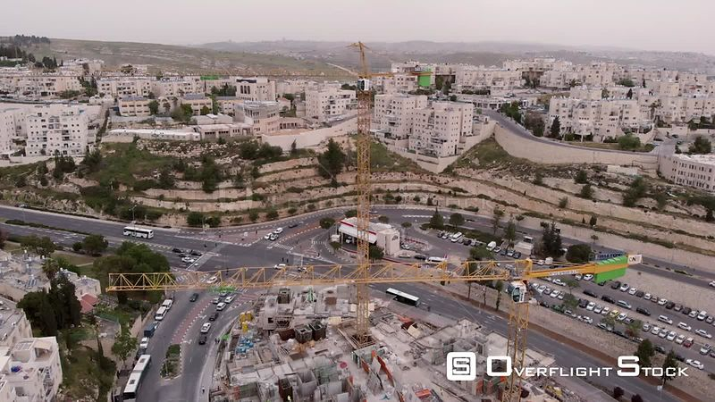 Jerusalem Construction Site and Cranes Israel