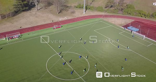 Drone Video Football Practice Italy