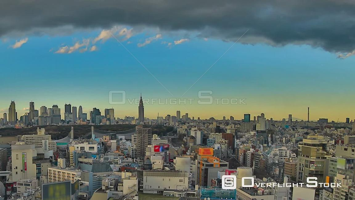 Tokyo  Japan Panning HDR Tokyo cityscape time lapse over Shibuya.