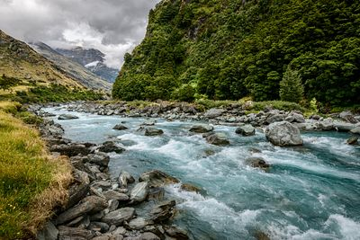 Draining from the main divide in Mount Aspiring National Park, the Matukituki River flows into Lake Wanaka.