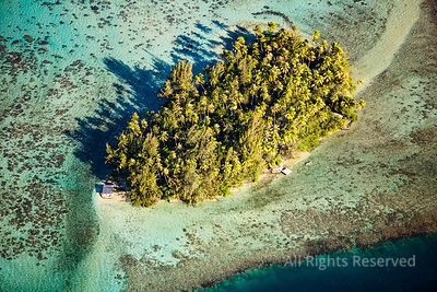 Reef and Small Island Tropical Tahiti Islands of French Polynesia