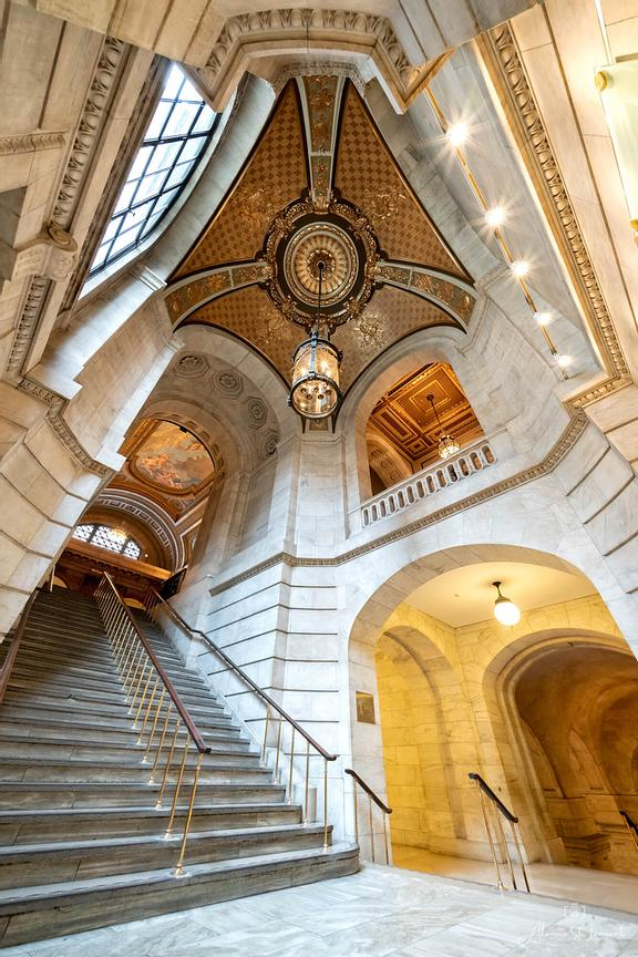 New_York_City_Library_Stairwell
