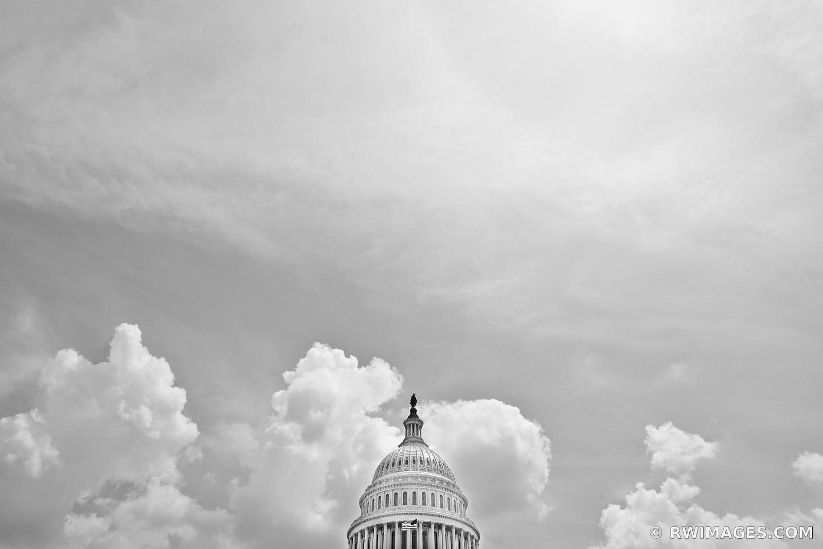 US CAPITOL DOME WASHINGTON DC BLACK AND WHITE
