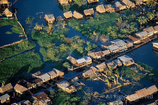 Stilt Homes. Belen Region of Iquitos Peru. Amazon.