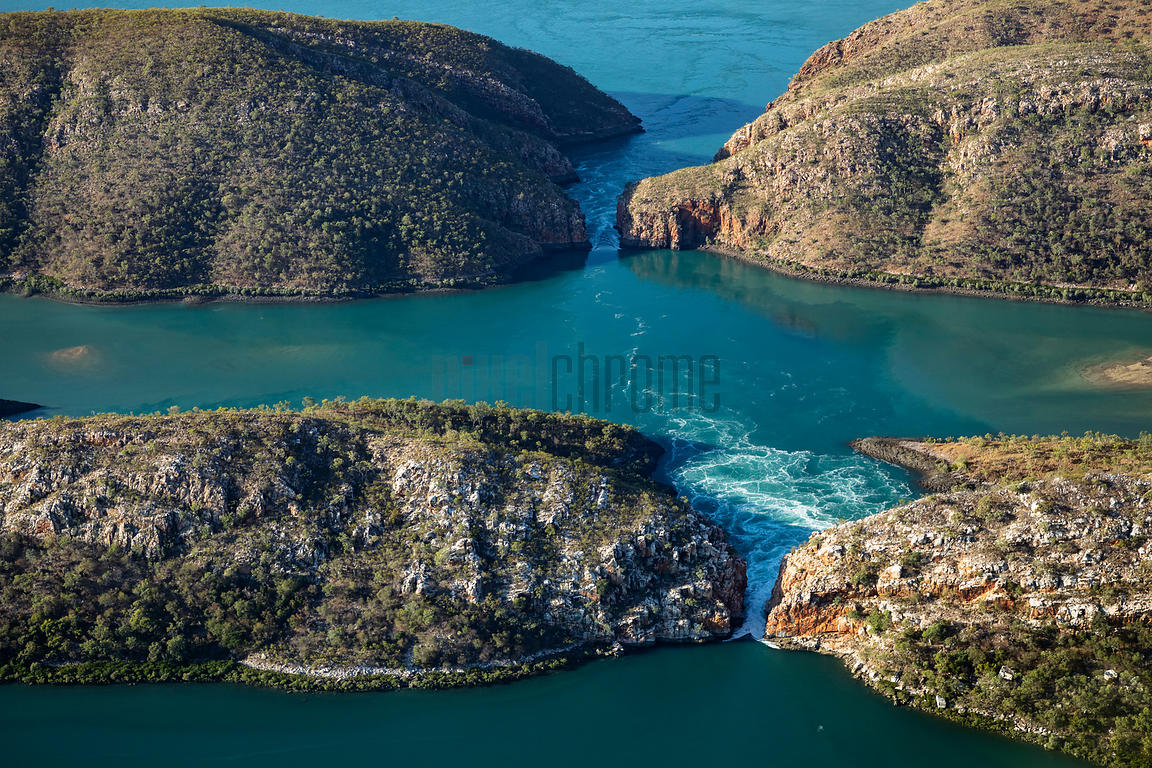 "Aerial View of the ""Gaps"" at the Horizontal Falls"