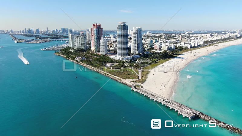 Drone Video of South Beach Miami Florida