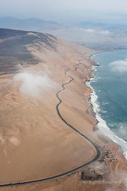 Coastal Highway from Huacho to Lima Peru