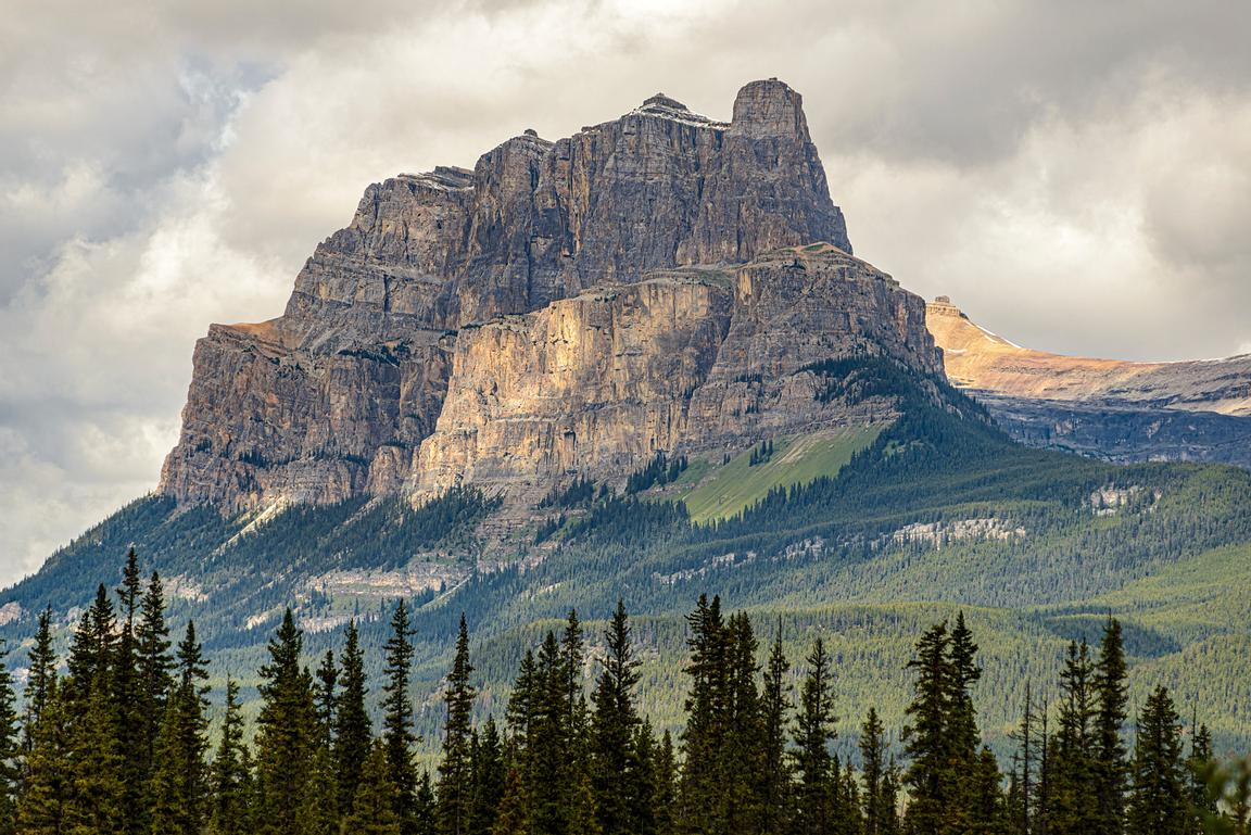 Castle Mountain, along the Bow River valley.