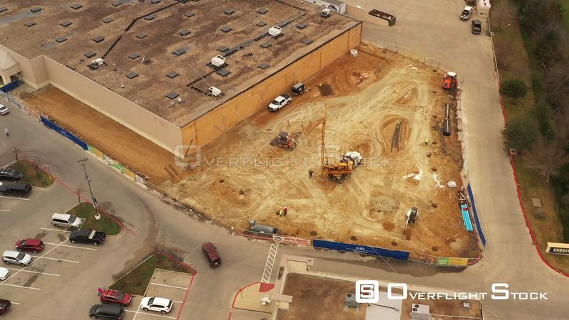 Excavating Equipment Installing a Building Foundation, Bryan, Texas, USA