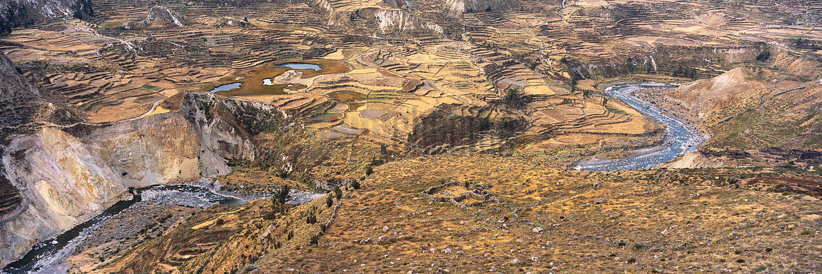 Terraced Landscape near the Colca Canyon