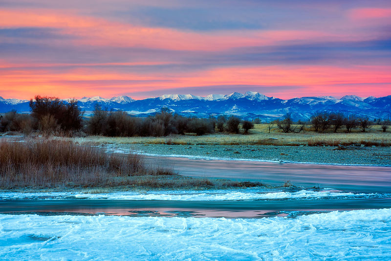 Madison River Winter Sunrise