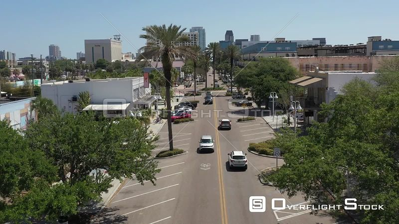 Aerial Footage Downtown St. Petersburg Florida Covid 19 Empty Street
