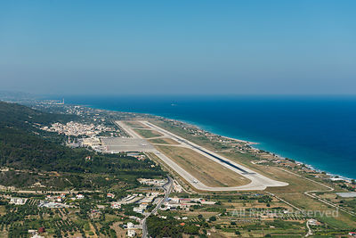 Aerial View on the Rhodes International Airport Greece