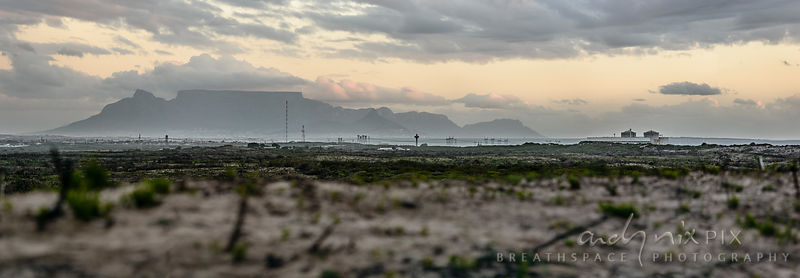 Koeberg Nuclear Power Station and Table Mountain