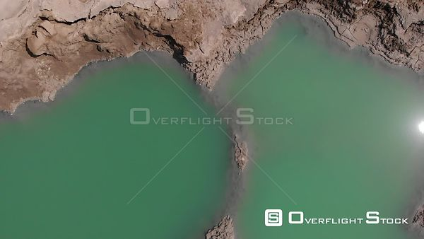 Drone Flying Over Sinkholes and the Dead Sea