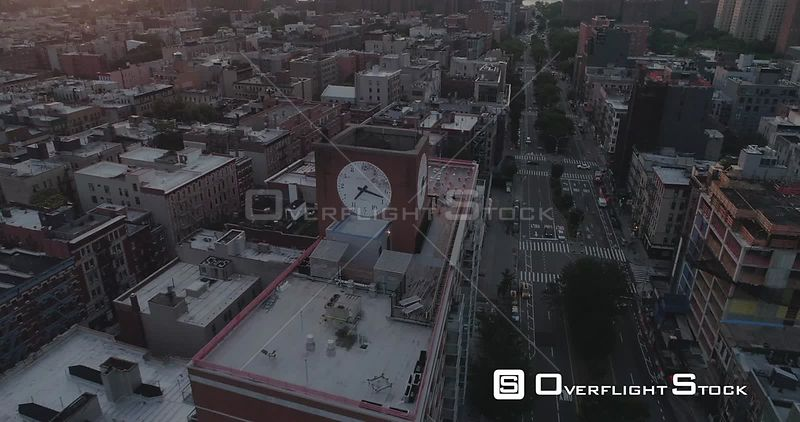 Aerial View Above Housten St Lower East Side Manhattan at Sunrise New York City