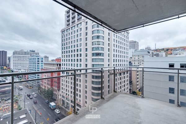 Balcony of a condo downtown Montreal
