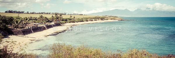 Maui Hookipa Beach Paia Hawaii Retro Panorama Photo