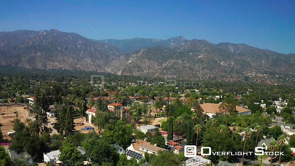 Drone Video Mt Wilson Observatory Pasadena Foreground California