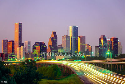 Houston Skyline at Dawn