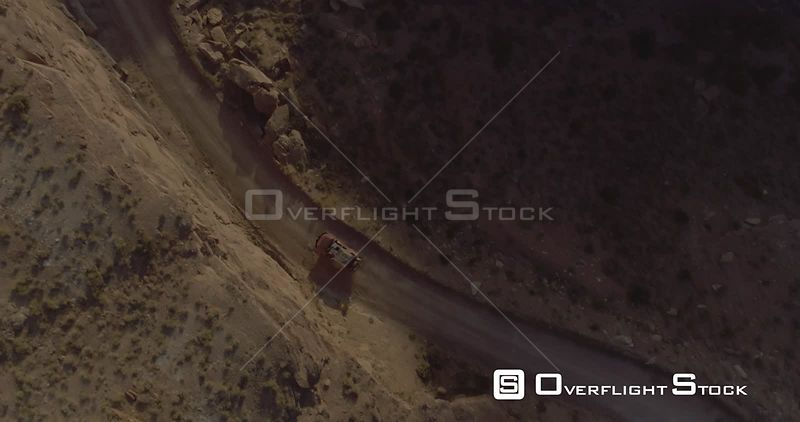SUV on Smokey Mountain Road Drone Video Utah USA