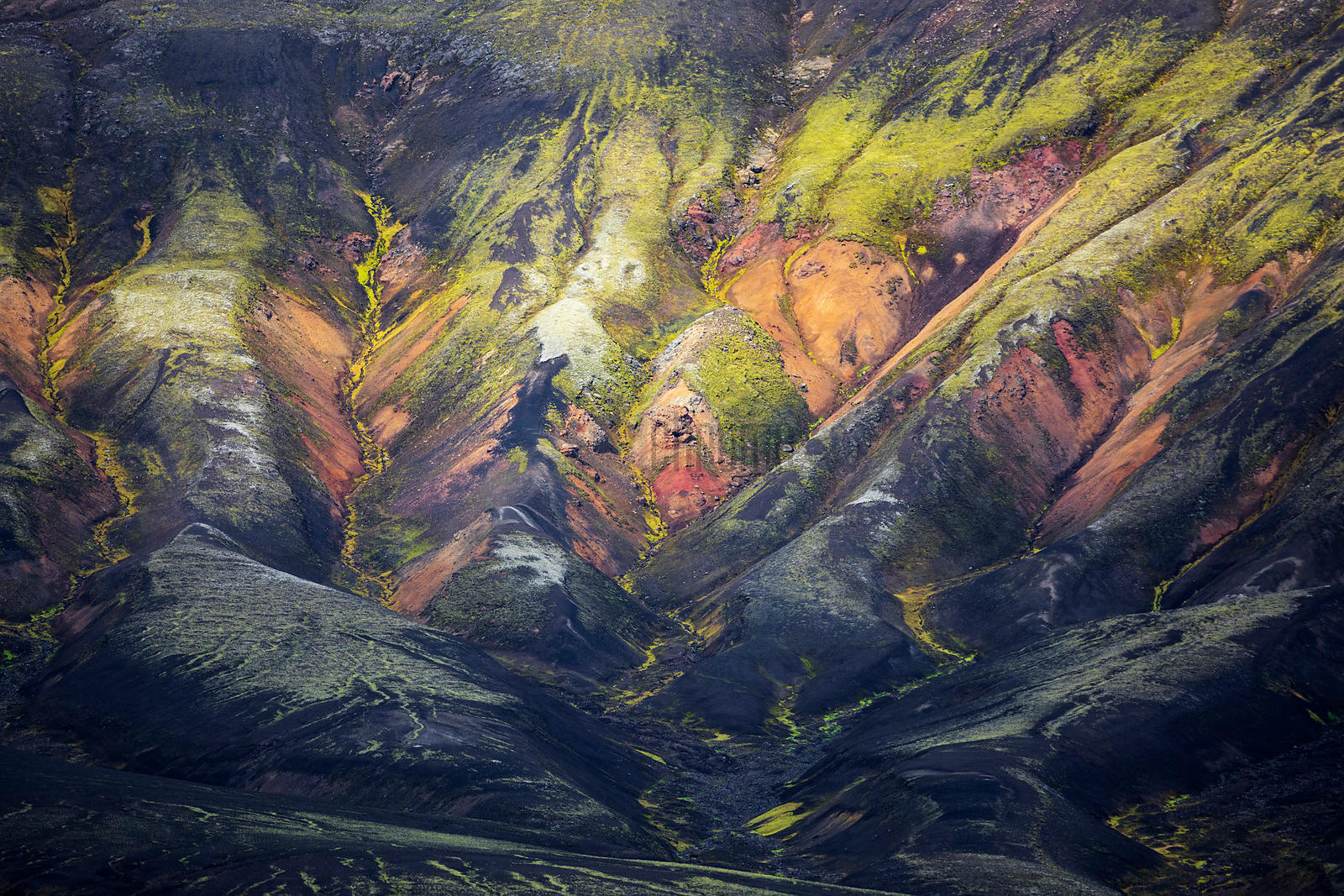 Mountain Textures in the Remote Highlands