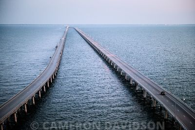 Bridge Tunnel crossing the Chesapeake Bay