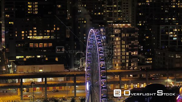 Seattle Washington State USA Seattle Ferris Wheel at Night