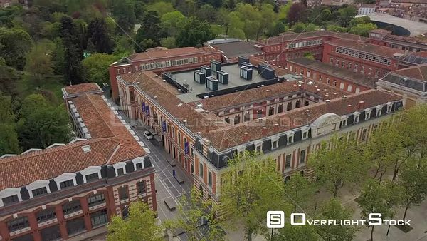 Toulouse City, City Center And Royal Garden, Jules Guesde Alley  Video Drone Footage
