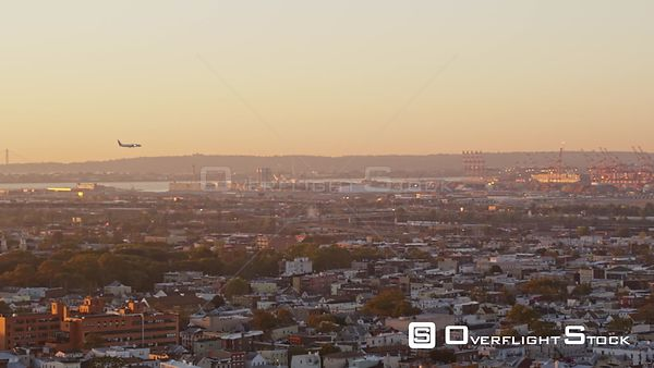 New Jersey Newark Aerial EWR Airport Ironbound District Sunrise