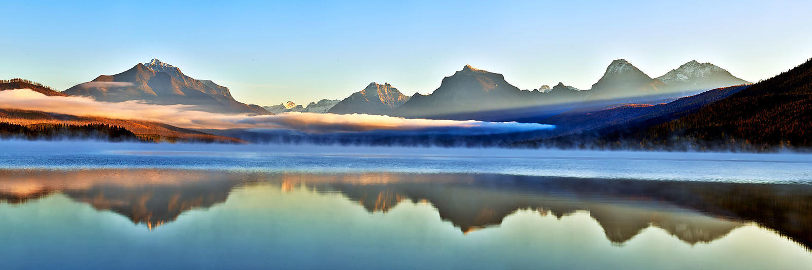 Lake McDonald Foggy Sunrise