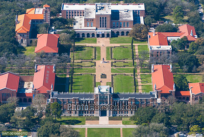 Rice University campus and Lovett Hall