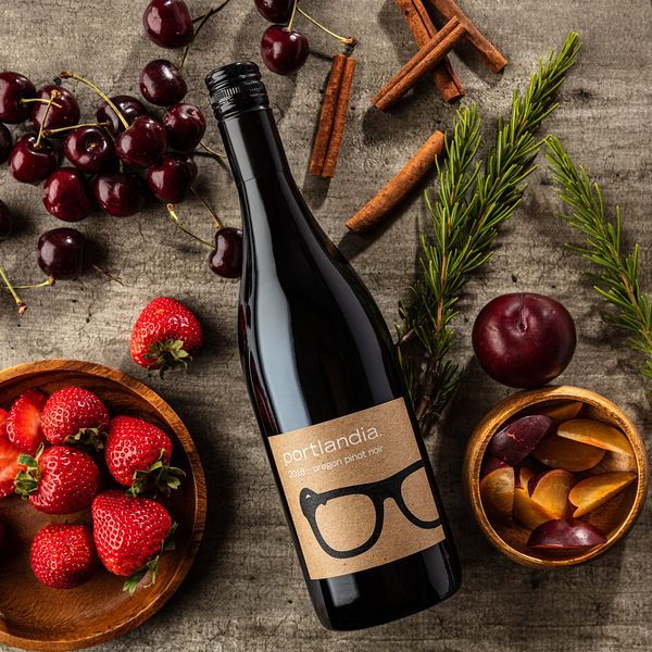 Willamette Valley, Oregon styled wine photography for Portlandia Vintners by Jason Tinacci