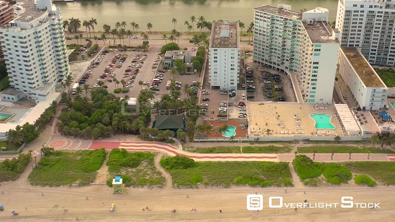 Aerial Miami Beach video shot 4k