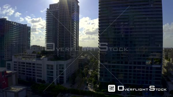 Miami Residential Condominium Apartment Buildings Sun Contrast