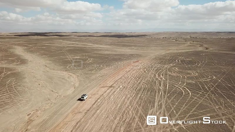Car drvivng in the desert israel