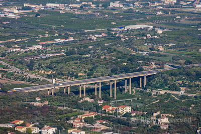 Highway Bridge Bagheria Sicily Italy
