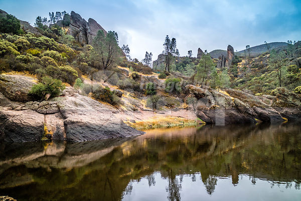 The Bear Gulch Reservoir in Pinnacles National Park