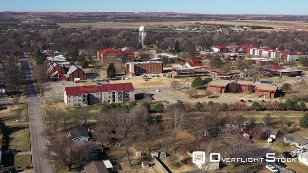 Campus and Buildings in a Small College, Lindsborg, Kansas, USA