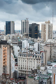 Aerial View of Flats and Offices in the Centre of Buenos Aires Argentina