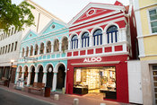 Colourful colonial buildings, Willemstad, Curaçao