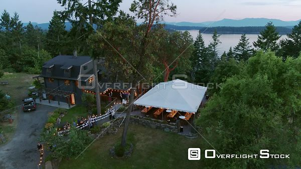 Galiano Island Gulf Island Evening Wedding BC Canada