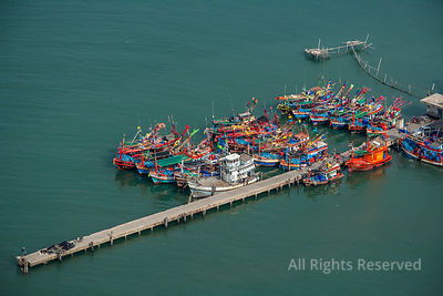 Fishing Boats and Industry Thailand