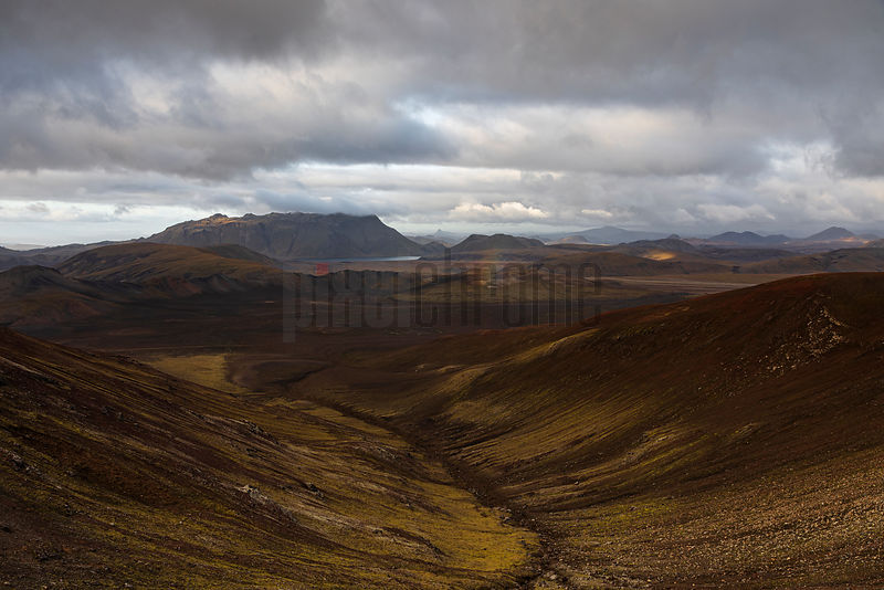 Landscape in the Highlands of Iceland