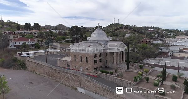 Drone Video Border Wall Nogales Arizona Courthouse