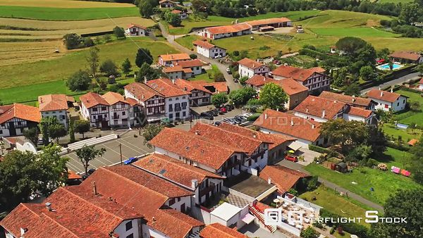 Town of Ainhoa France Drone Video View